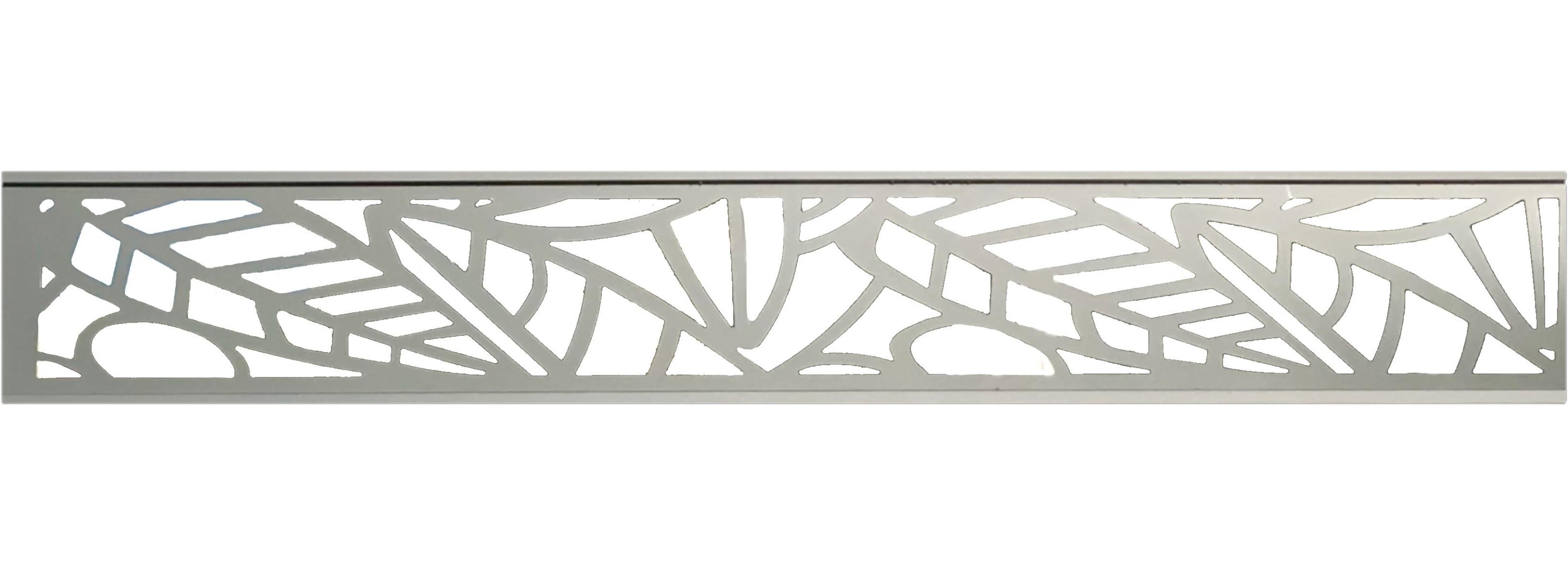 Plexiglas-Dekorationseinsatz für Sichtschutzzäune Aluminium-Rahmen Anthrazit