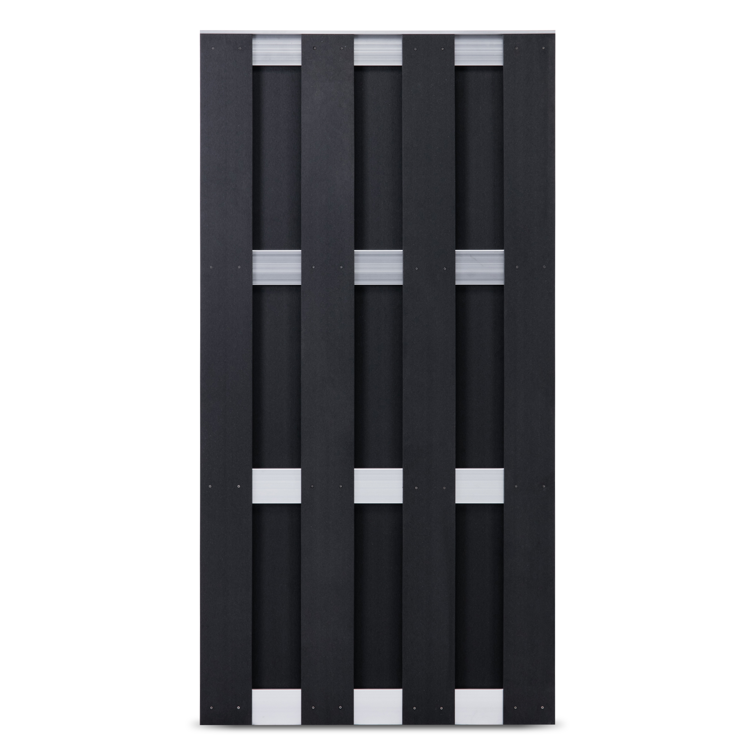 WPC Silver Line Fertigzaunelement 90 x 180 cm Anthrazit / Silber