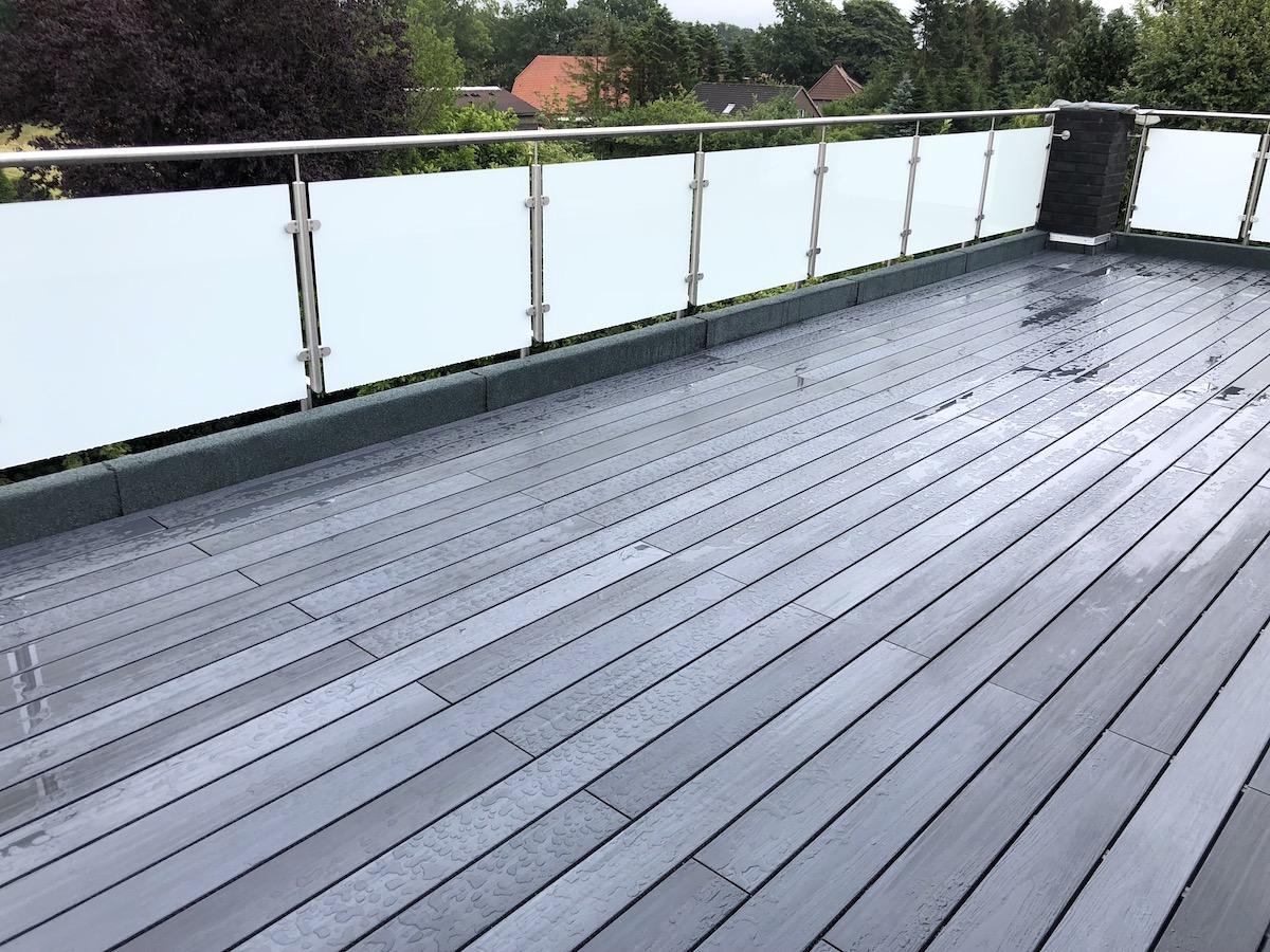 Wpc Coex Terrassendielen Anthrazit Komplettset 3 Meter