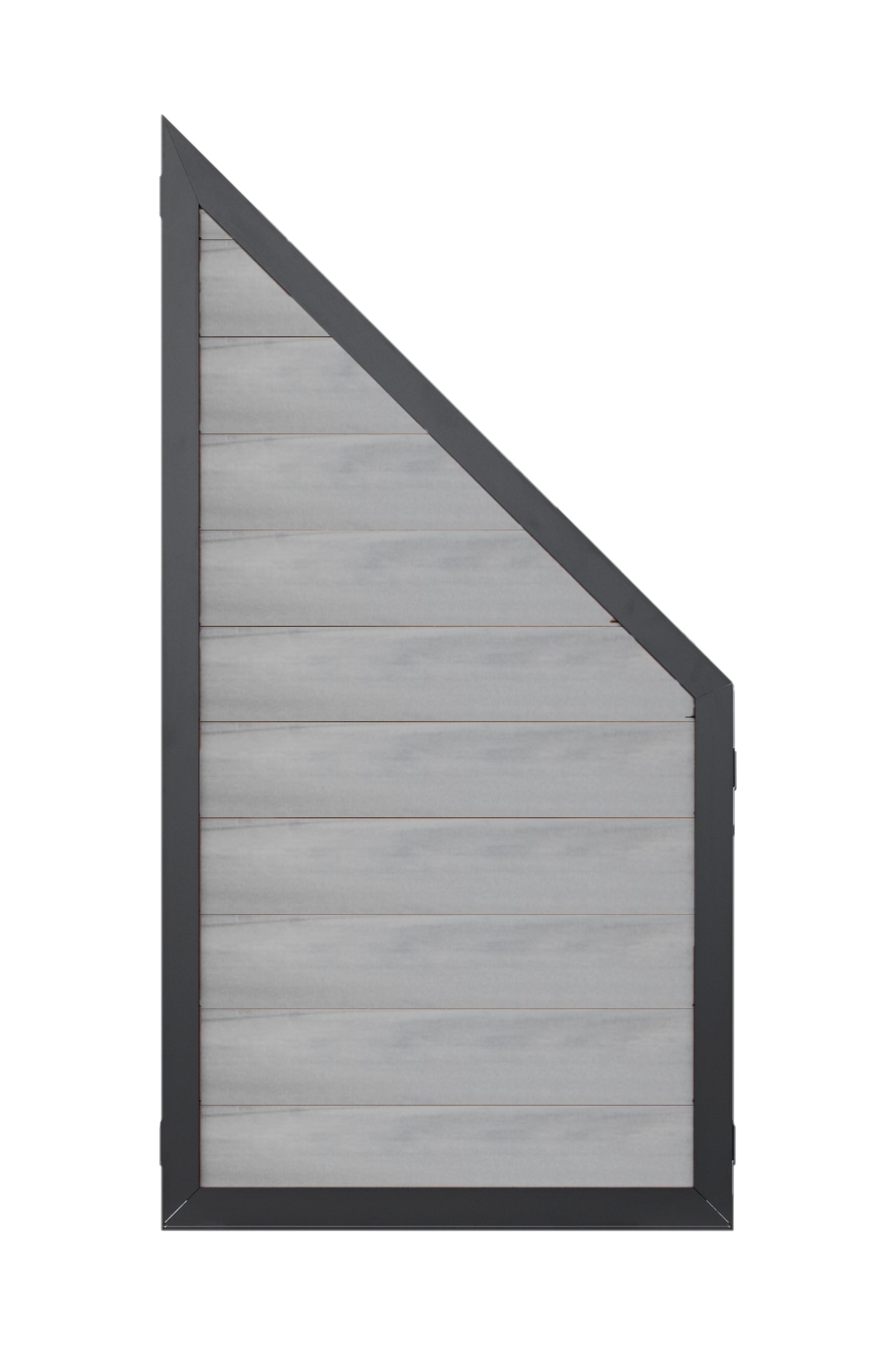 Exclusive Line Schrägelement Edelgrau Aluminium-Rahmen Anthrazit - 90 x 175 cm