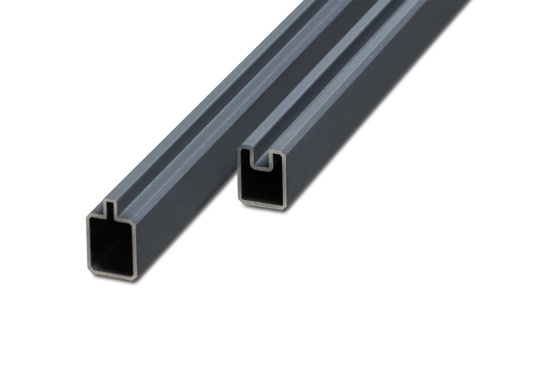 Premium Line / Premium Line Plus Set Anfangs- und Endleiste Aluminium Anthrazit