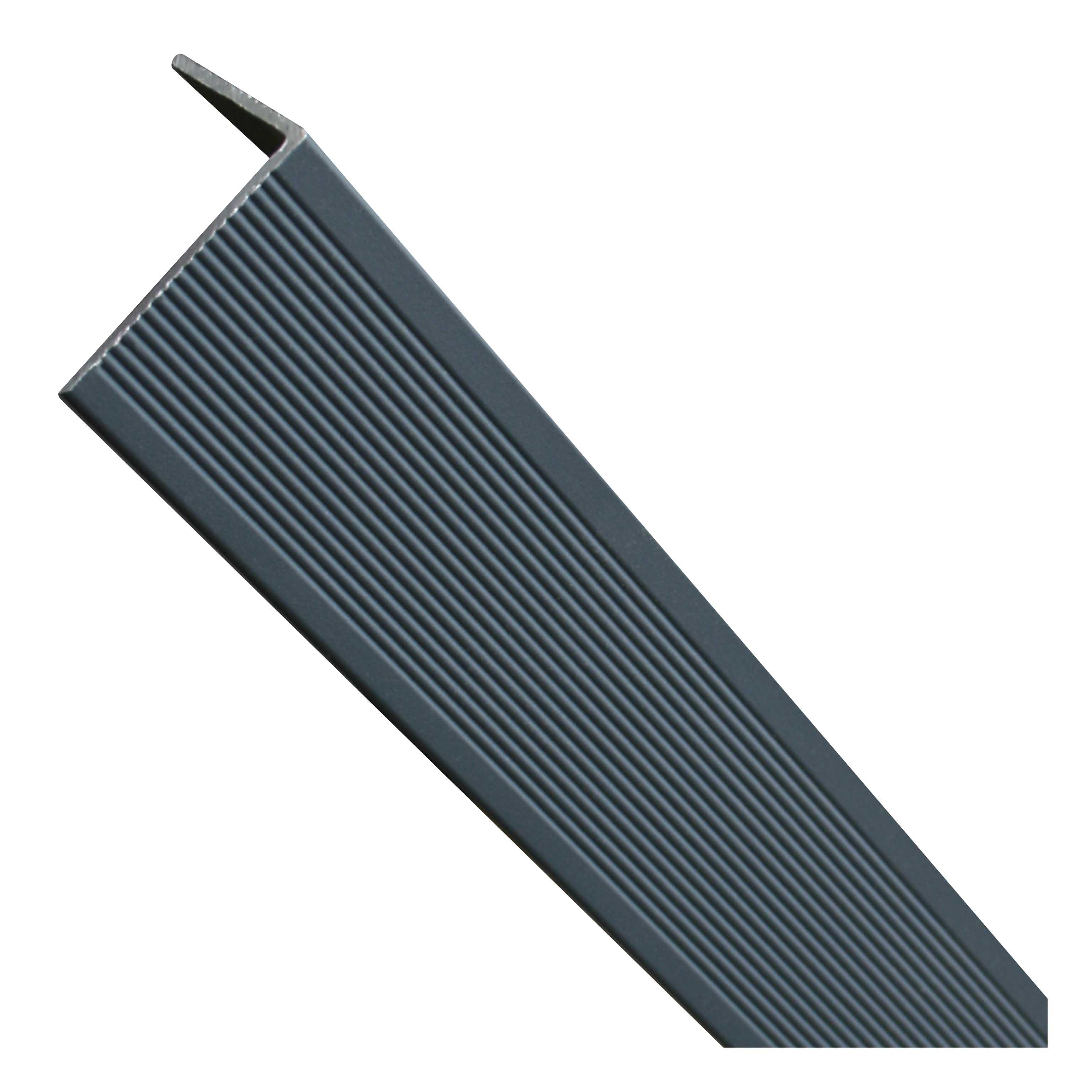 Abschlussprofil Aluminium Anthrazit 45 x 35 x 3000 mm