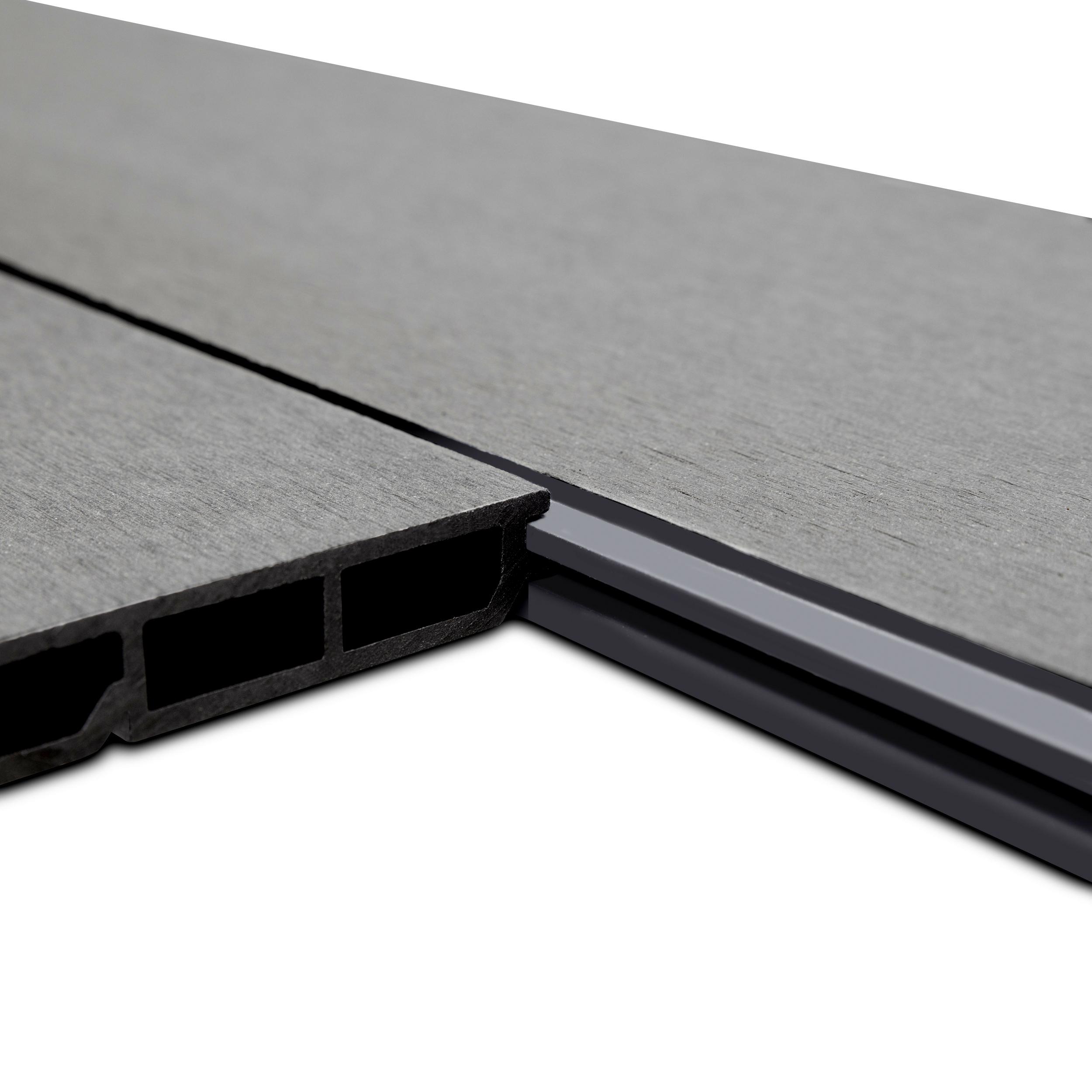 WPC Edition Line Sichtschutzzaun Einzelpaneel 180 x 15 cm Anthrazit