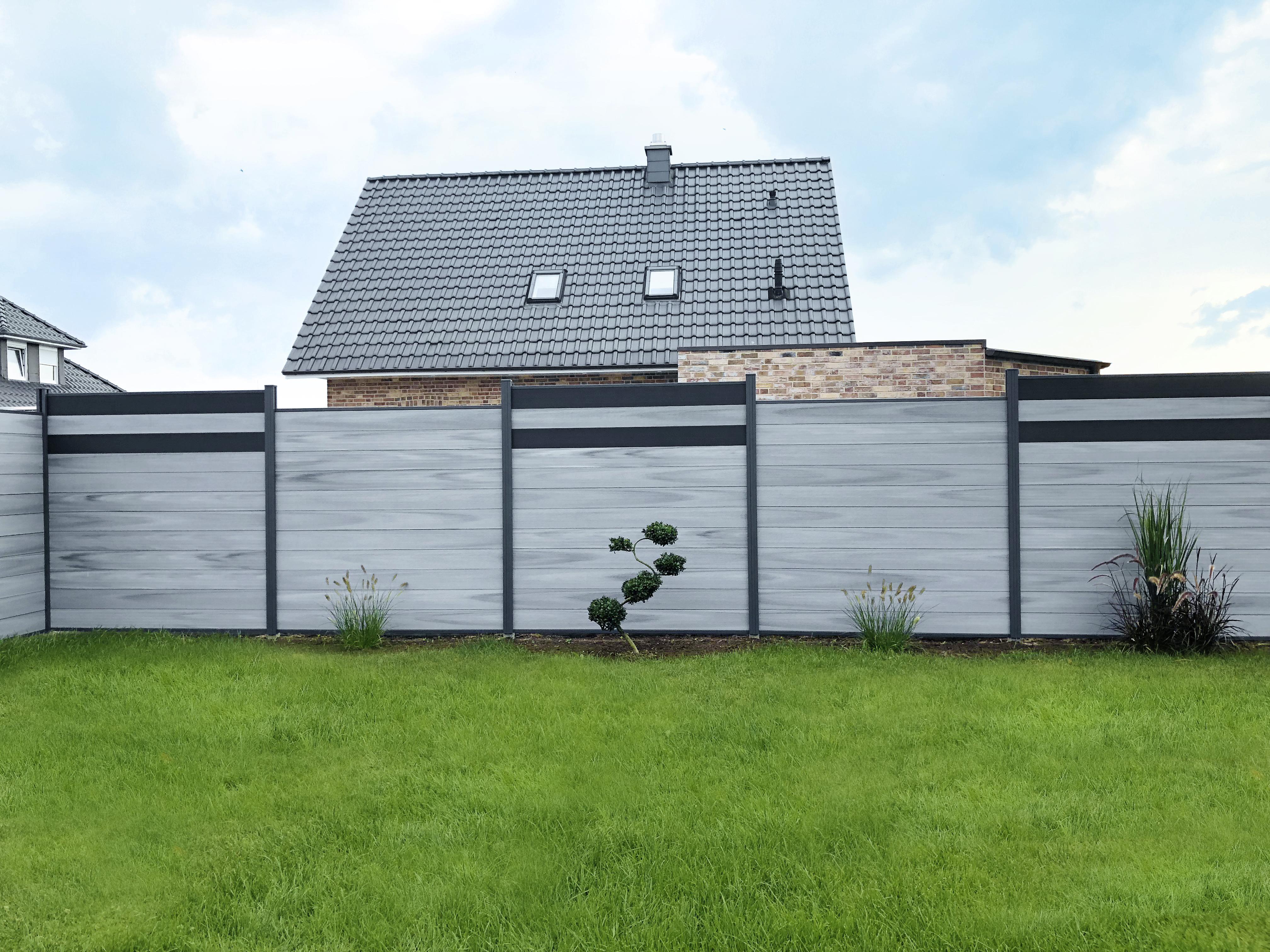 Tomi Wpc Premium Line Musterpaket Sichtschutzzaun Zaun Gartenzaun Grau